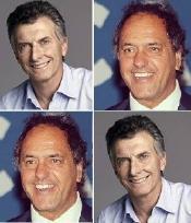 Macri, Scioli y los
